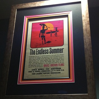Custom Framed 1964 Pop Art The Endless Summer Handbill - Movies