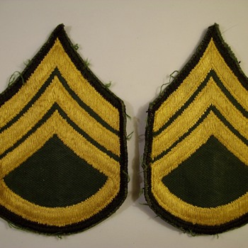 My Dads World War Two Sargent Patches