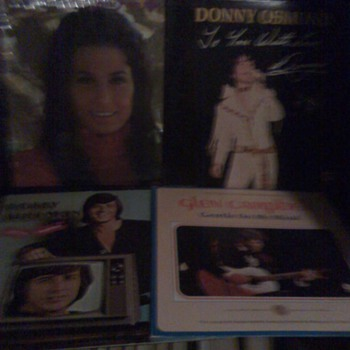 Box of Record Albums from the late 1960's and early 1970's
