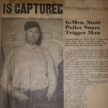 The Arrest of Kinnie Wagner - Murderer and Bootlegger