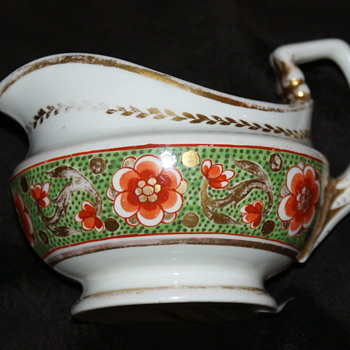 Crown Derby Antique Hand-Painted Creamer or Gravy Boat - China and Dinnerware