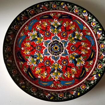 Turkish Hand Painted Gedikoglu Cini (ceramic) Kutahya Plate Flea Market Find 2 Bucks - Pottery