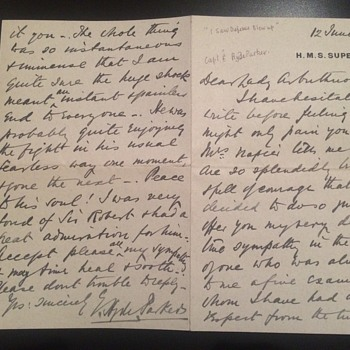 "A letter from Captain E hyed parker  To lady arbuthnot, ""I saw defence blow up""  - Military and Wartime"