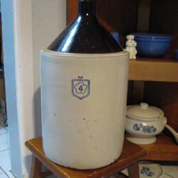 Stoneware Storage McCoy #4 Whiskey Jug. - Pottery