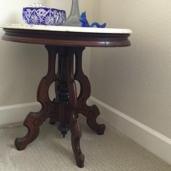 GRANDMA'S MARBLE TOP TABLE - Furniture