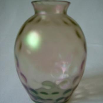 Art Nouveau Iridescent Vase - Art Glass