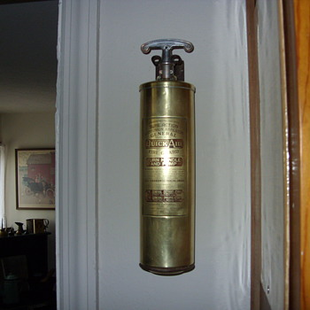 1930s brass fire extiguisher