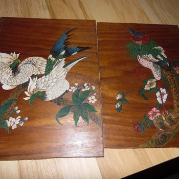 1940 Chinese Design Painting from Original Chinese Wall Hanging Old Peking China