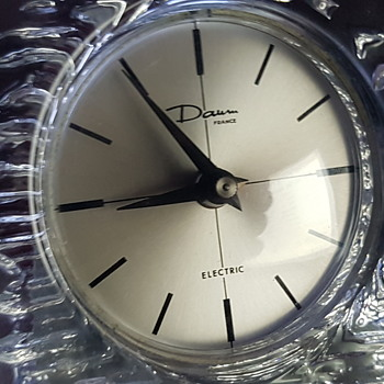 Daum glass clock.. - Clocks