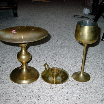 brass goblet candle holder - Lamps