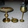 brass goblet candle holder