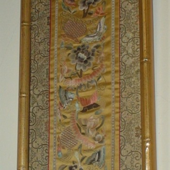 Asian Framed Silk Panel - Asian