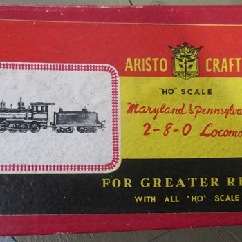 1958 early brass locomotive sold by Aristo Craft the MA & PA old time 2-8-0 made by Akane - Model Trains