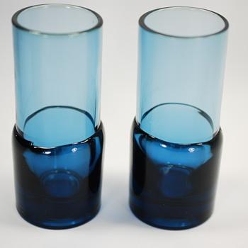 Hand Blown Mid Century Modern Cordial Glasses - Glassware