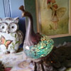 Peacock lamp and planter