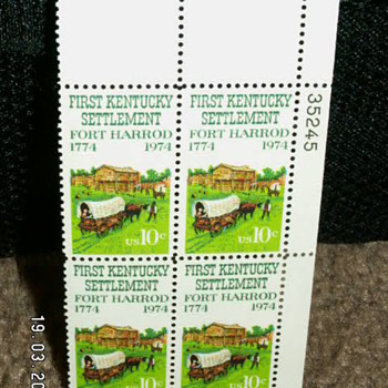 1974 First Kentucky Settlement Fort Harrod 10¢ Stamps