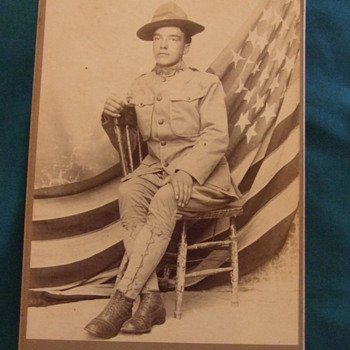 Cabinet card of 16th Infantry soldier at FT Crook - Photographs
