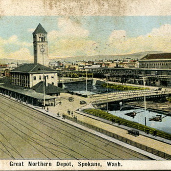 Spokane, Washington Train Stations - Railroadiana