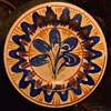 Mexican Pottery Plate with Abstract Tree/Flower Design