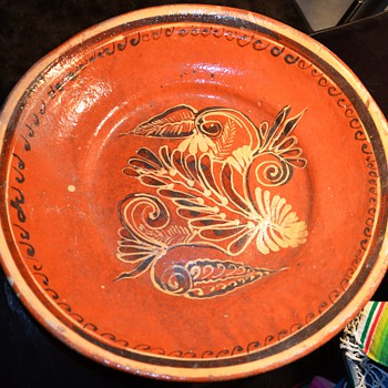 Extremely large Mexican Pottery Bowl - Tlaquepaque? - Pottery