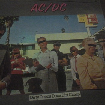 """AC/DC """"Dirty Deeds Done Dirt Cheap  """" - Records"""