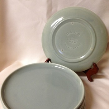Vintage or Not?   Bauer Dinner Plates - China and Dinnerware