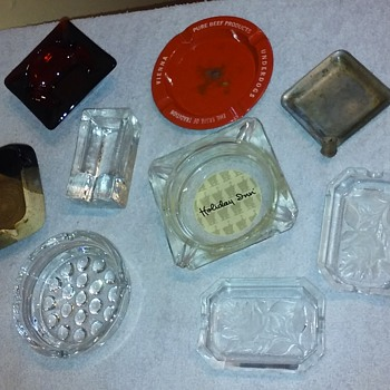 nine more assorted small ashtrays,  HOLIDAY INN & etc. - Advertising