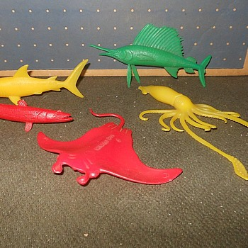 More MPC Nabisco Cereal Sea Creatures 1960s - Toys