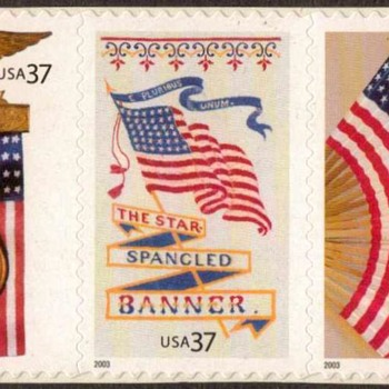 "2003 - ""Old Glory"" Postage Stamps (US) - Stamps"