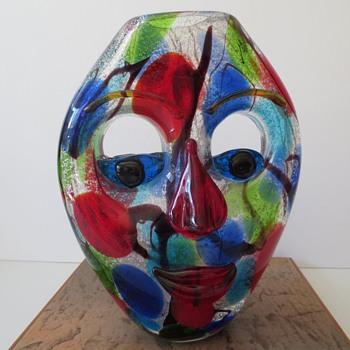 Face Shaped Vase - Art Glass