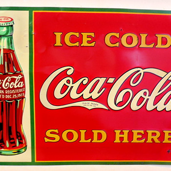 "1931 Coca-Cola 20""x28"" Tin Sign - Coca-Cola"