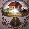 Rare -Antique Horseshoe Western Hanging Oil Lamp