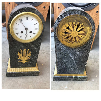 Antique French Marble Marble  Clock  - Clocks