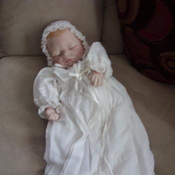 joyce wolf sleeping baby - Dolls