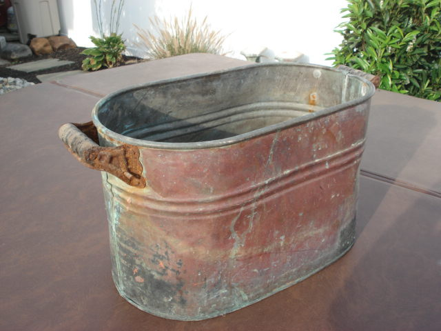 antique copper wash tub Old copper wash tub??? | Collectors Weekly antique copper wash tub
