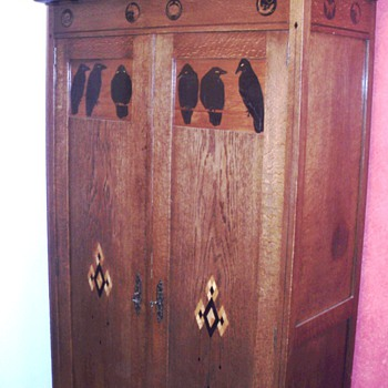 Cupboard by Napoleon Le Grand 1910 Amsterdam