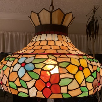 Vintage Stained Glass Pendant Hanging Lamp - Lamps