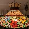 Vintage Stained Glass Pendant Hanging Lamp