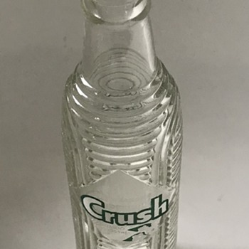 Orange Crush glass bottle. - Bottles