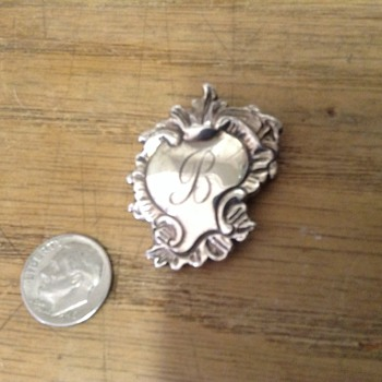 Sterling silver broach or Necklace