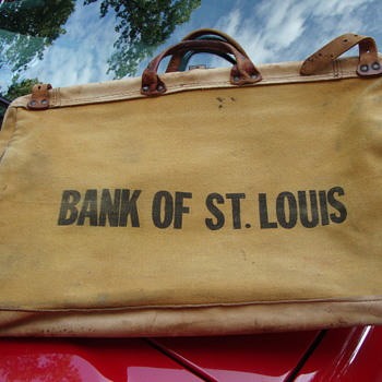 Vintage BANK OF ST. LOUIS canvas bag...... - Advertising
