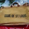 Vintage BANK OF ST. LOUIS canvas bag......