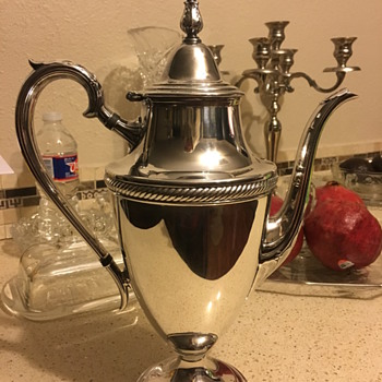 Beautiful coffee pot  - Silver