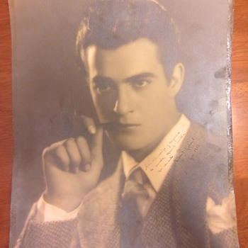 Early Gilbert Roland Inscribed & Signed Photograph From Photographer Melbourne Spurr
