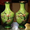 Interesting Green Cloisonne Vases from China