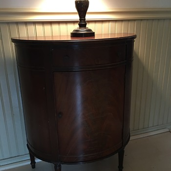 Imperial Half Round Mahogany Cabinet - Furniture