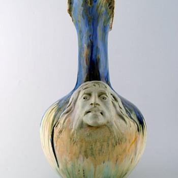 Art Nouveau Ewer by Alfred Renoleau - Pottery