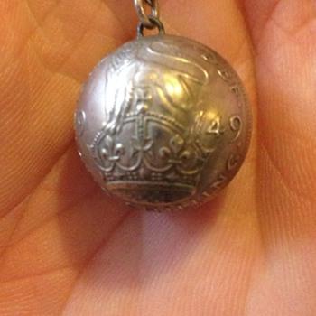A lovely coin art  pendant
