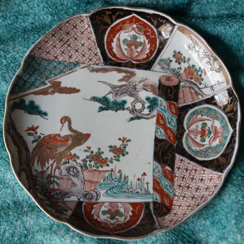 Large Imari Plate - late edo or early Meiji. - Asian