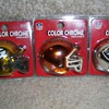 NFl mini color chrome helmets